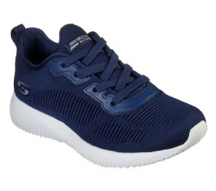 Skechers Womens 32504 NVY Navy Bobs Sport Squad Tough Talk Trainers